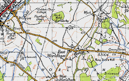 Old map of East Worldham in 1940