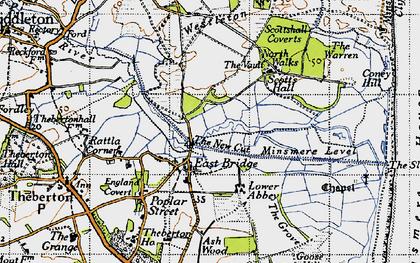 Old map of Westleton Walks in 1946