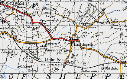 Old map of Eastchurch in 1946