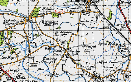Old map of Wharley Hall in 1947