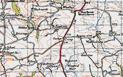 Old map of Eastcott in 1946