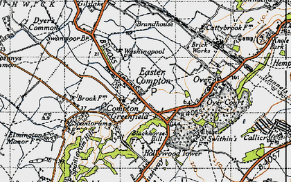 Old map of Easter Compton in 1946