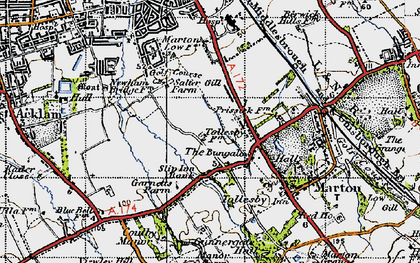 Old map of Easterside in 1947