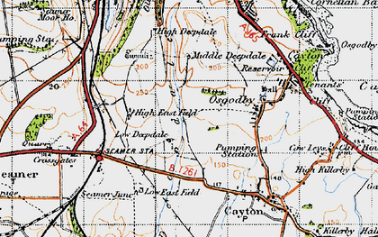 Old map of White Nab in 1947
