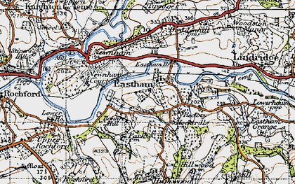 Old map of Eastham in 1947