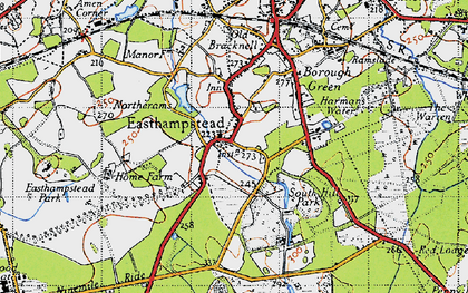 Old map of Easthampstead in 1940