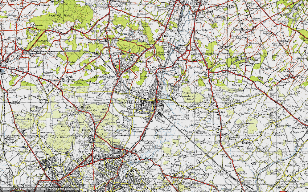 Old Map of Eastleigh, 1945 in 1945
