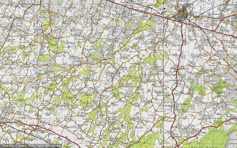 Old Map of Historic Map covering Tong Ho in 1946