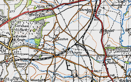 Old map of Easton in 1940