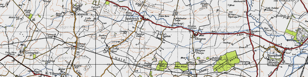 Old map of Whitleather Lodge in 1946