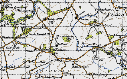 Old map of Baileytown in 1947