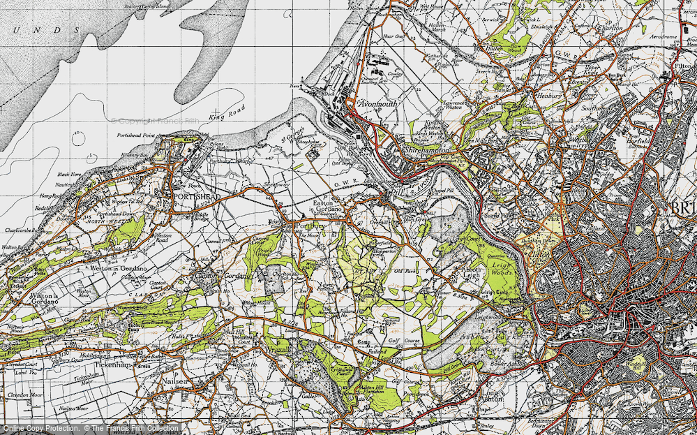 Old Map of Easton-in-Gordano, 1946 in 1946