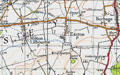 Old map of Easton Royal in 1940
