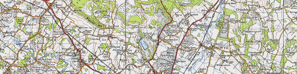 Old map of Eastwell Park in 1940