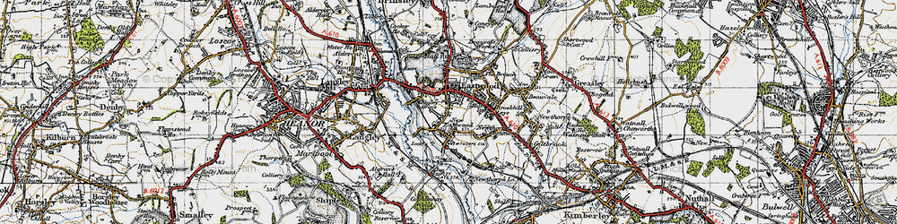 Old map of Eastwood in 1946