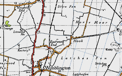 Old map of Latches Fen in 1946