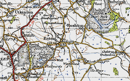 Old map of Eaton in 1947