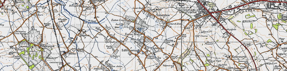 Old map of Eaton Bray in 1946
