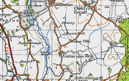 Old map of Bacon Hall in 1947