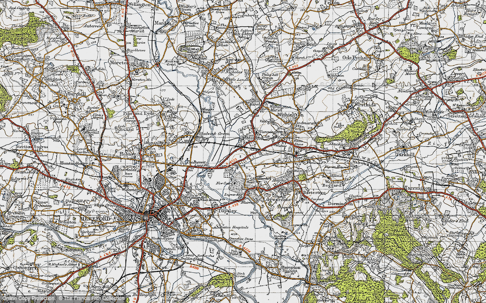 Old Map of Eau Withington, 1947 in 1947