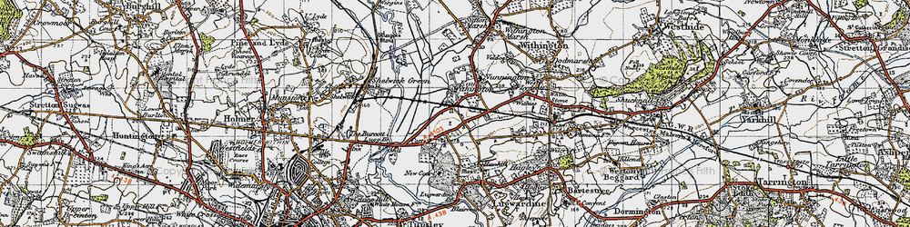 Old map of Withies in 1947