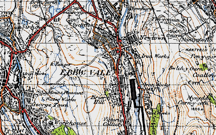Old map of Ebbw Vale in 1947