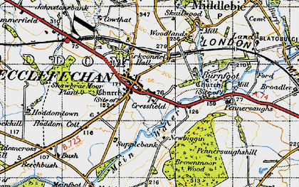 Old map of Ecclefechan in 1947