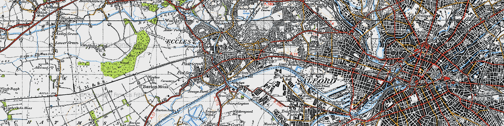 Old map of Eccles in 1947