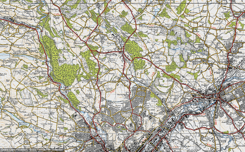 Old Map of Ecclesfield, 1947 in 1947