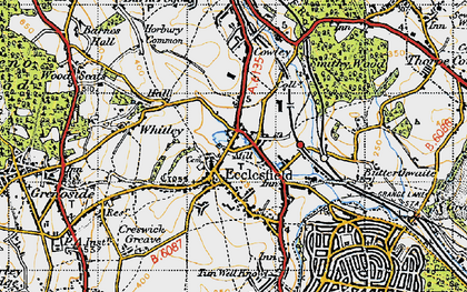 Old map of Ecclesfield in 1947