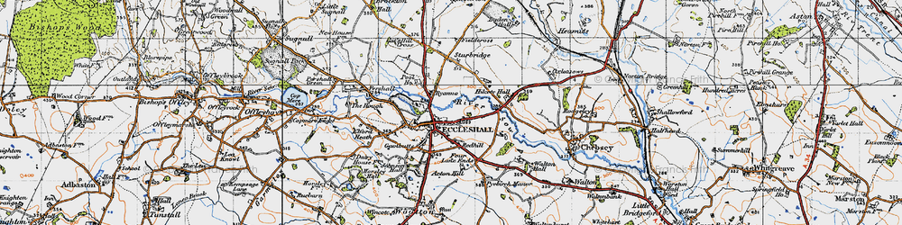 Old map of Eccleshall in 1946