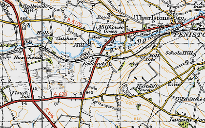 Old map of Ecklands in 1947