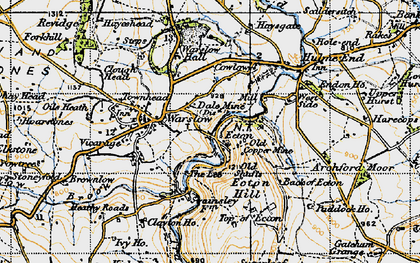 Old map of Back of Ecton in 1947