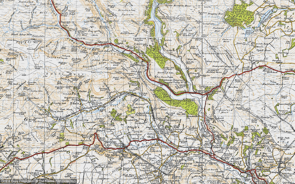 Old Map of Historic Map covering Wooler Knoll in 1947