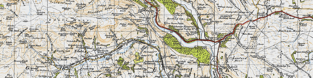 Old map of Woodlands Valley in 1947