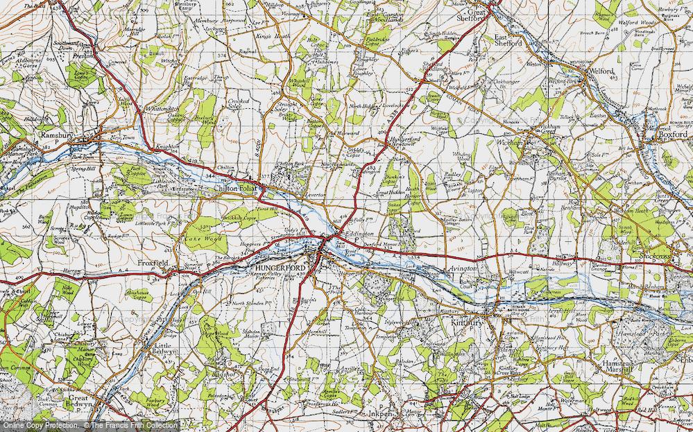 Old Map of Eddington, 1945 in 1945