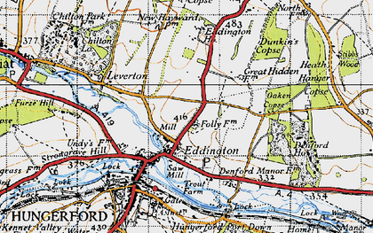 Old map of Eddington in 1945