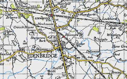 Old map of Edenbridge in 1946