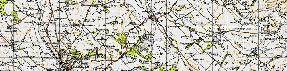 Old map of Whinsfield in 1947
