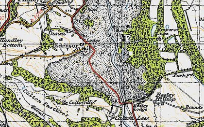 Old map of Edensor in 1947