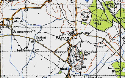 Old map of Edgcott in 1946