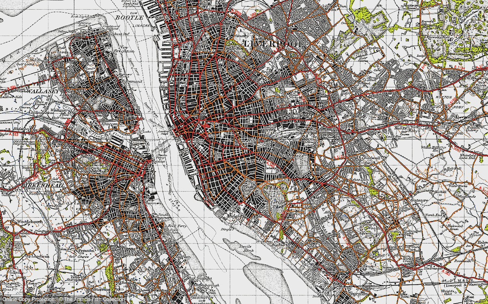 Old Map of Historic Map covering Lime St Sta in 1947