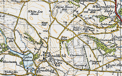 Old map of White Lee Moor in 1947