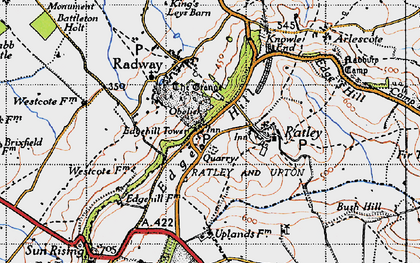 Old map of Westcote Manor in 1946