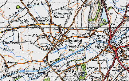 Old map of Edgmond in 1946