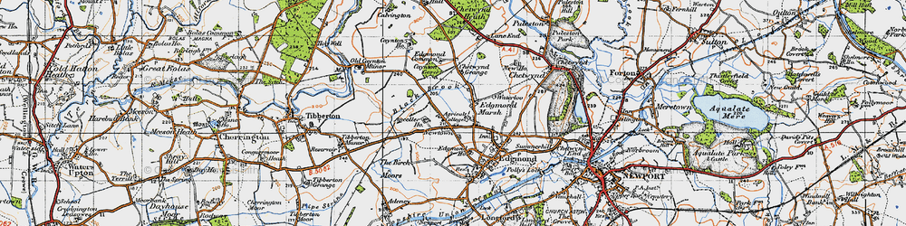 Old map of Anceller Ho in 1946