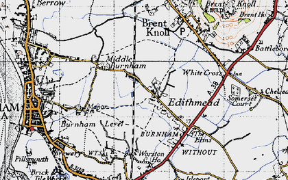Old map of Worston Ho in 1946