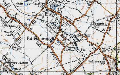 Old map of Edlesborough in 1946