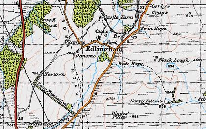 Old map of Edlingham in 1947