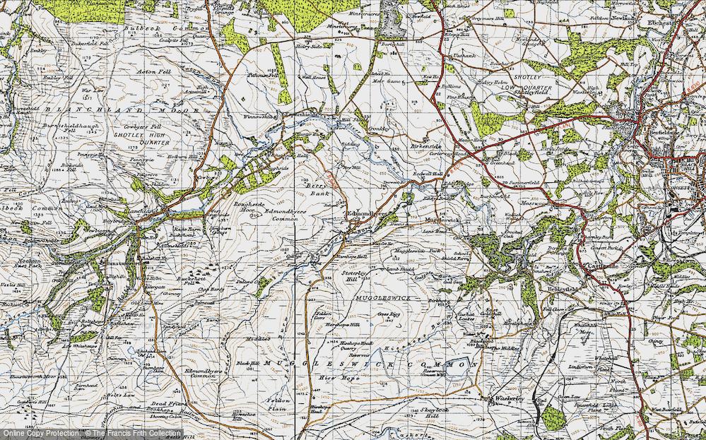 Old Map of Edmundbyers, 1947 in 1947